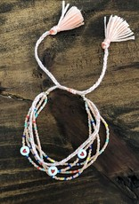 SeadBeed Heart Bracelet in Coral