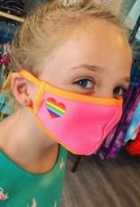 Rainbow Heart Mask