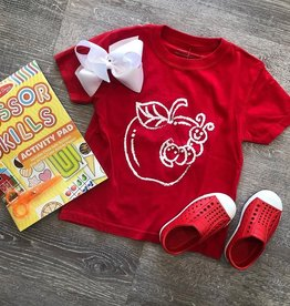 Mustard&Ketchup Kids Red Apple T-Shirt