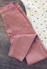 Denim Legging in Mauve