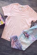 Hayden CrissCross Top in Pale Pink