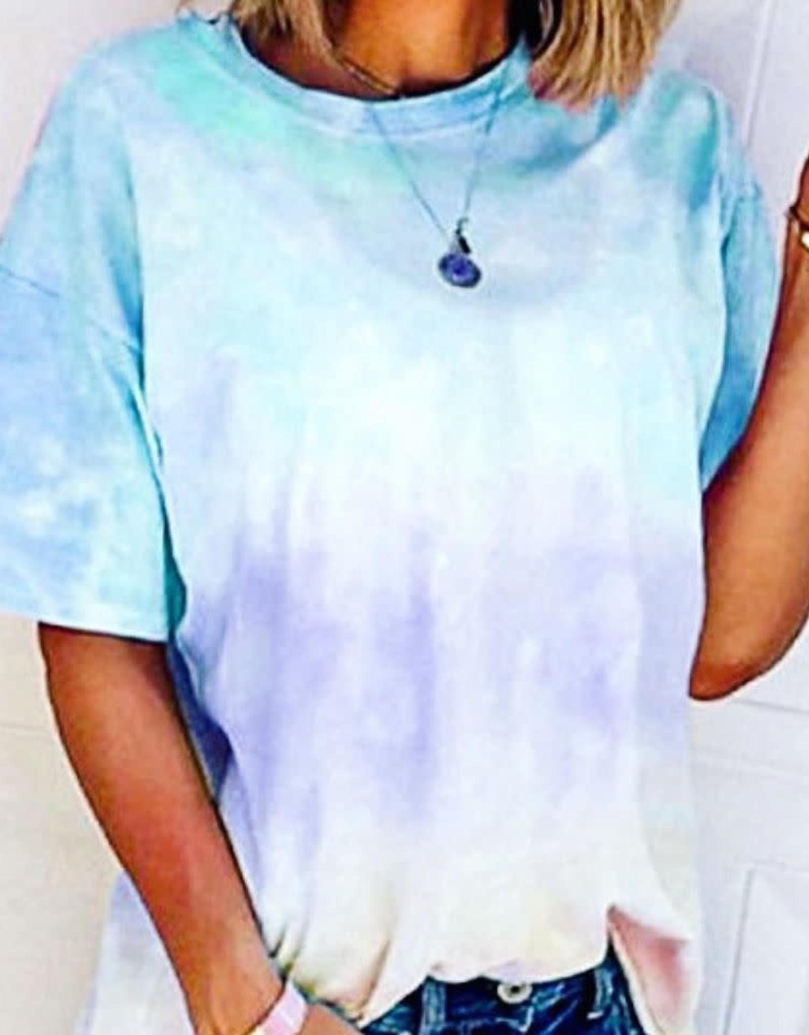 Natalie TieDye Tee in Blue