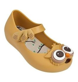 Mini Melissa Ultra Girl Owl Mary Jane Flats in Caramel
