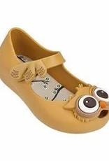 Mini Melissa Ultra Girl Owl Mary Jane Flats in Caramel