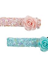 Creative Education Boutique Glitter Rosette Hairclips, 2 Pcs