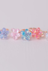 Creative Education Boutique Shimmer Flower Rings, 5 Pcs