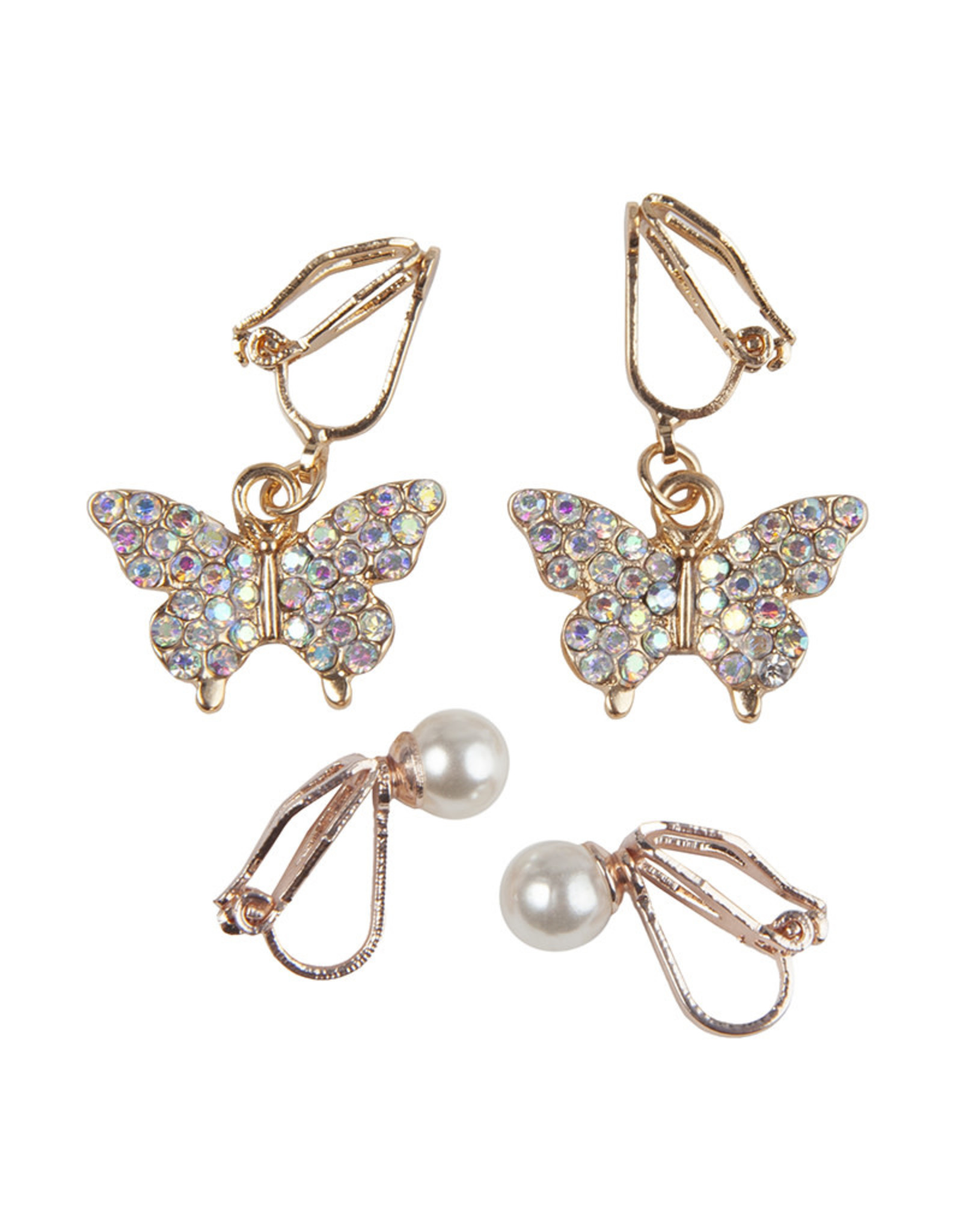 Boutique Butterfly Clip On Earrings, 2 Sets