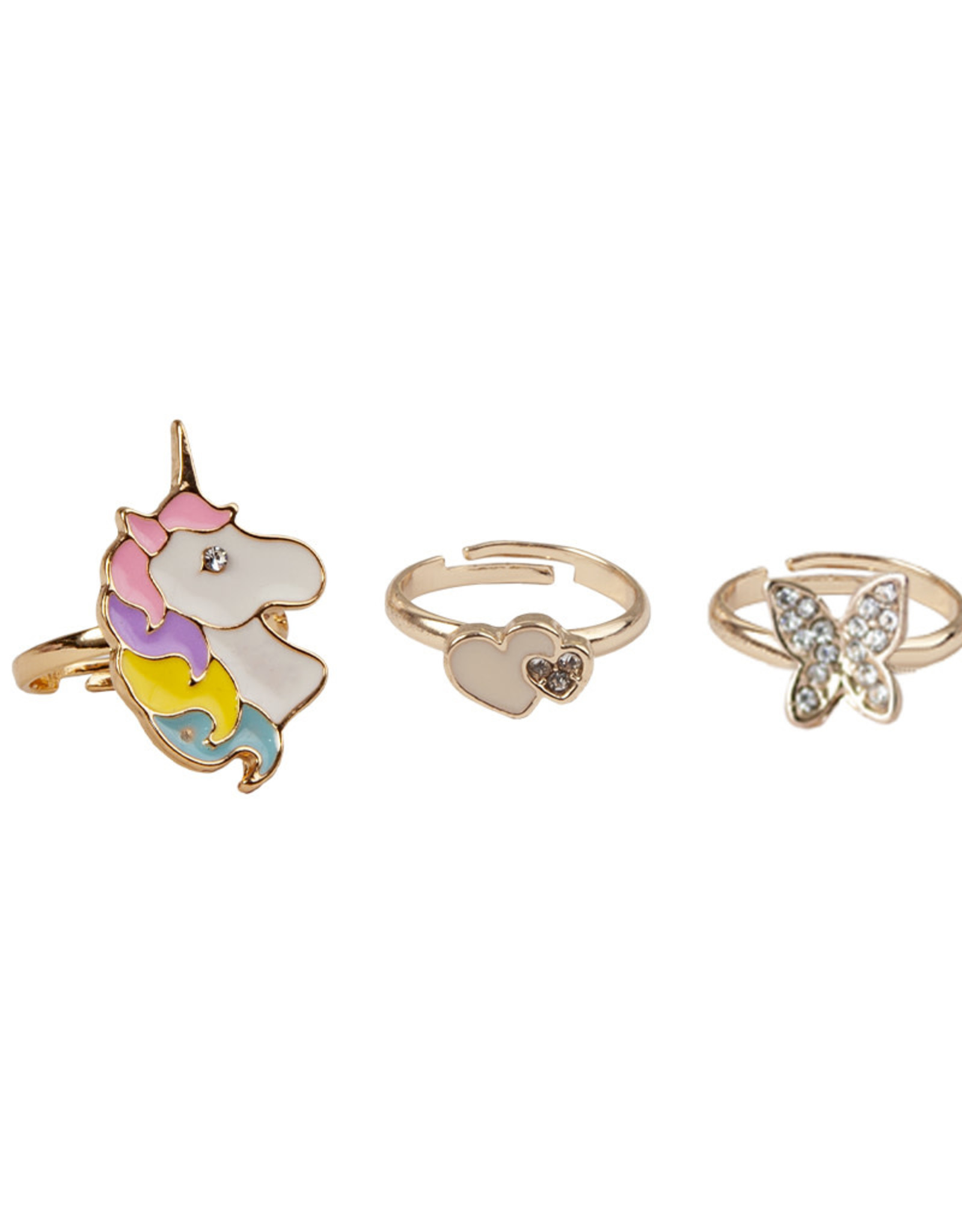 Creative Education Boutique Butterfly & Unicorn Ring, 3 Pcs