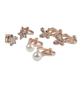 Creative Education Boutique Dazzle Clip On Earrings, 3 Sets