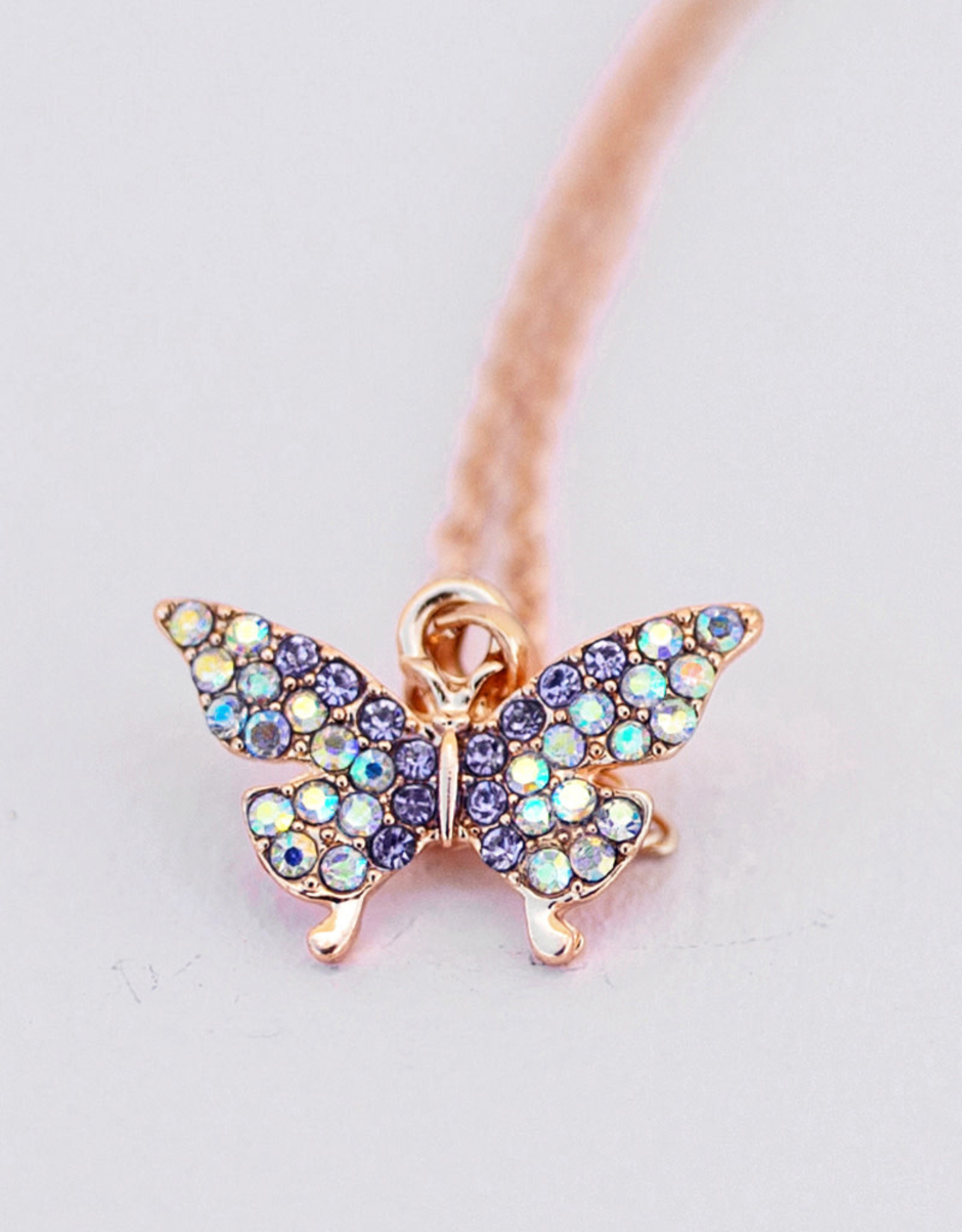 Creative Education Boutique Butterfly Gem Necklace