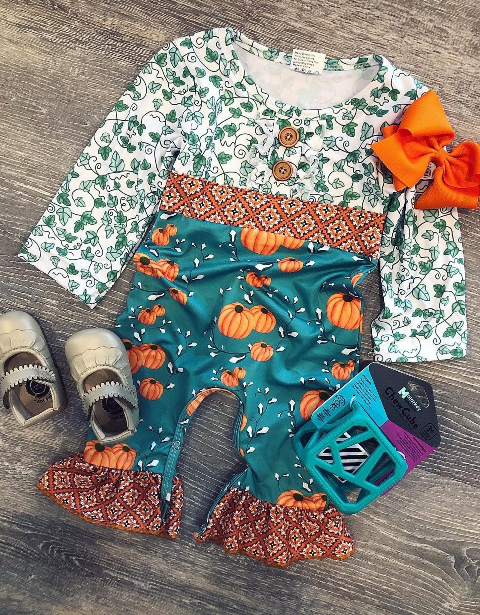 Green Pumpkin Romper