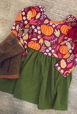 Honeydew Green Pumpkin Dress
