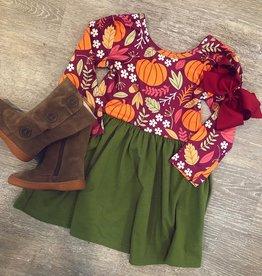 Honeydew Green Pumpkin Dress