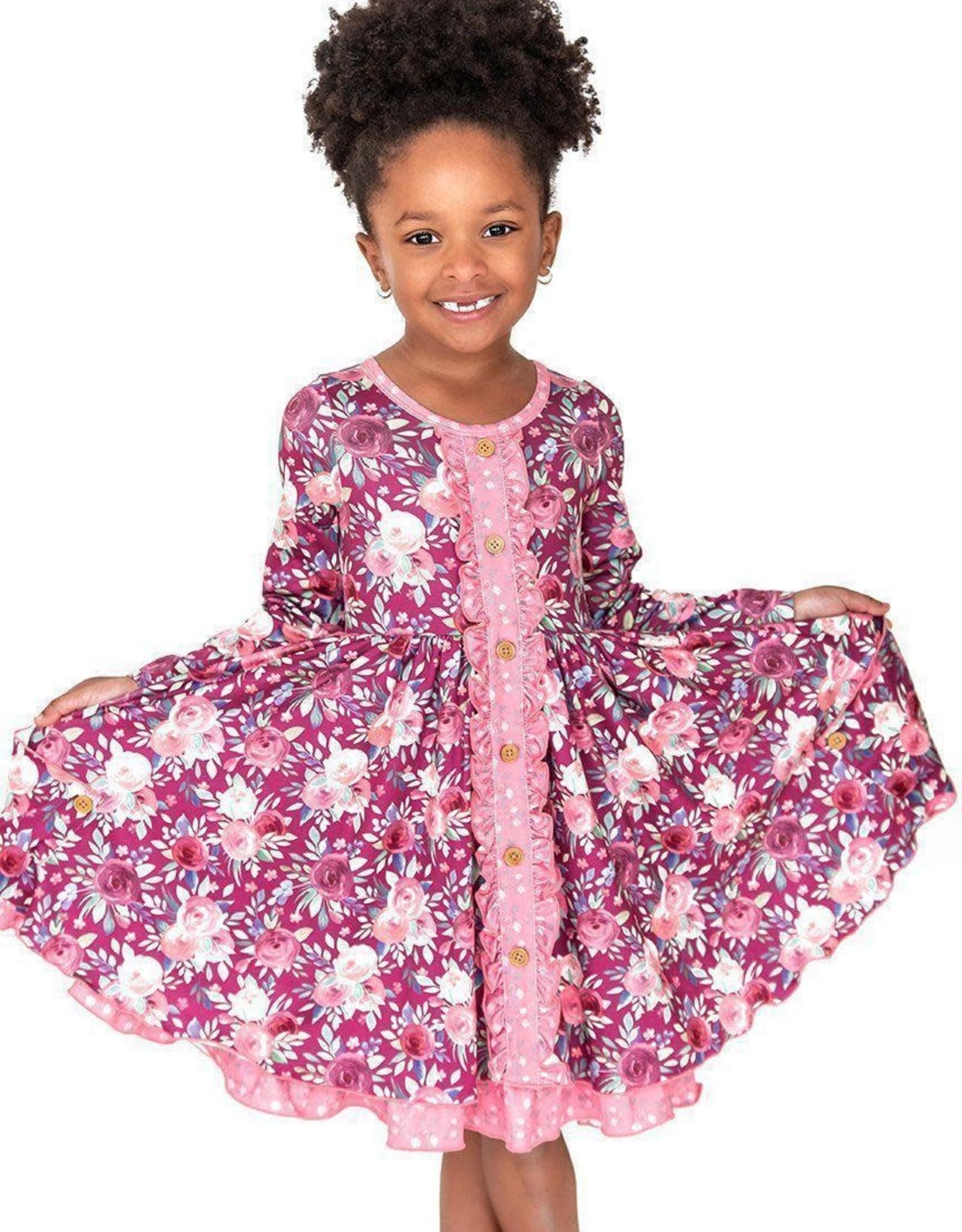 Charlies Project Harmony Floral Ruffle Twirls Dress