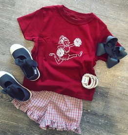 Mustard&Ketchup Kids Crimson/White Cheerleader T-Shirt