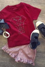 Mustard&Ketchup Kids Crimson/Gray Elephant T-Shirt