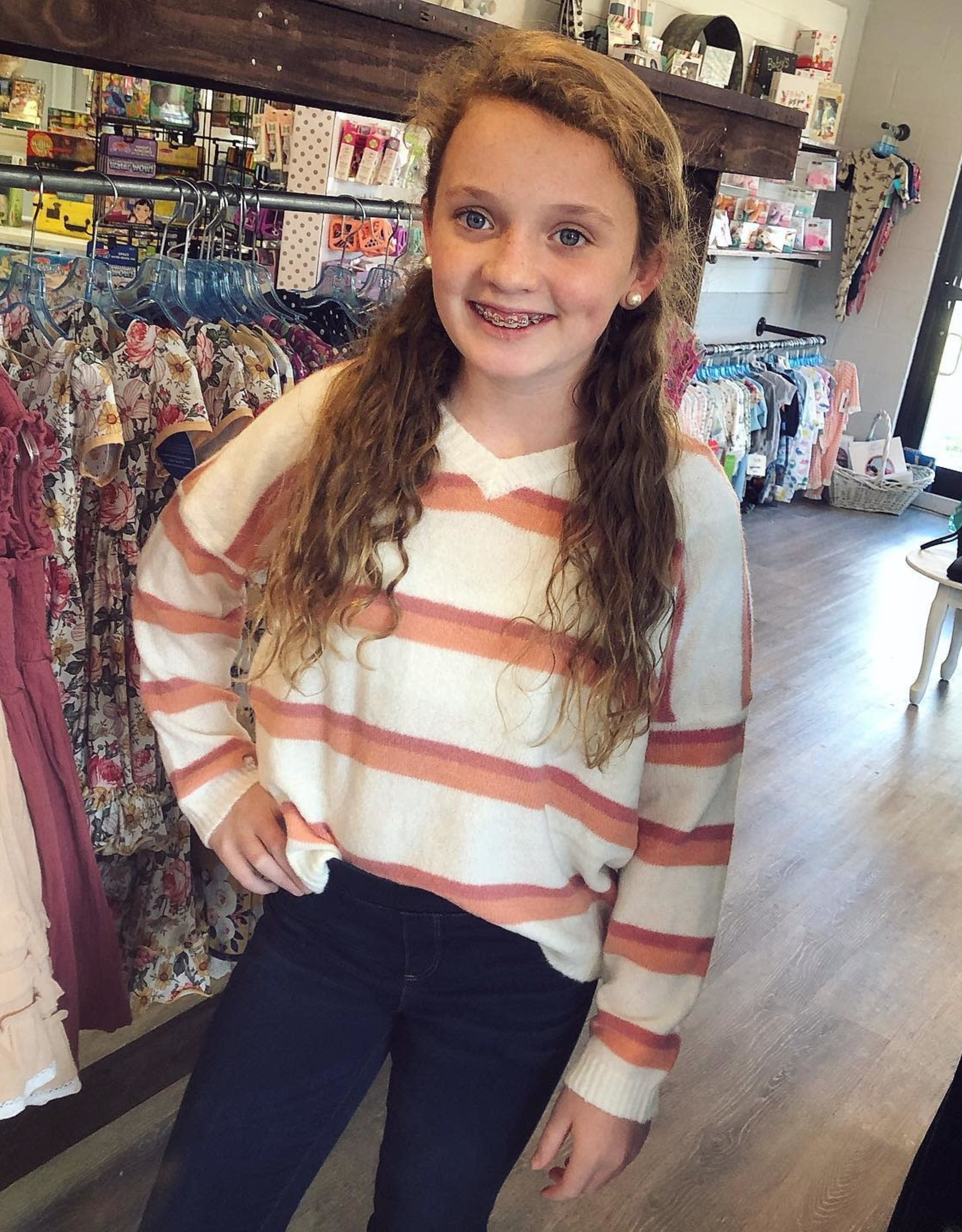 Sadie  & Sage Mia Stripe Sweater