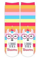 Sublime Designs Choose to be a Unicorn Socks(CHS)  Shoe Size 6-12
