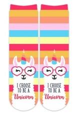 Sublime Designs Choose to be a Unicorn Socks(CHS)  Shoe Size 11-4