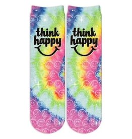 Sublime Designs Think Happy Shimmer Socks(THP) Shoe Size 11-4
