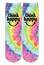 Sublime Designs Think Happy Shimmer Socks(THP) Shoe Size 6-12