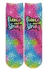 Sublime Designs Fierce & Strong Shimmer Socks(FAS) Shoe Size 6-12
