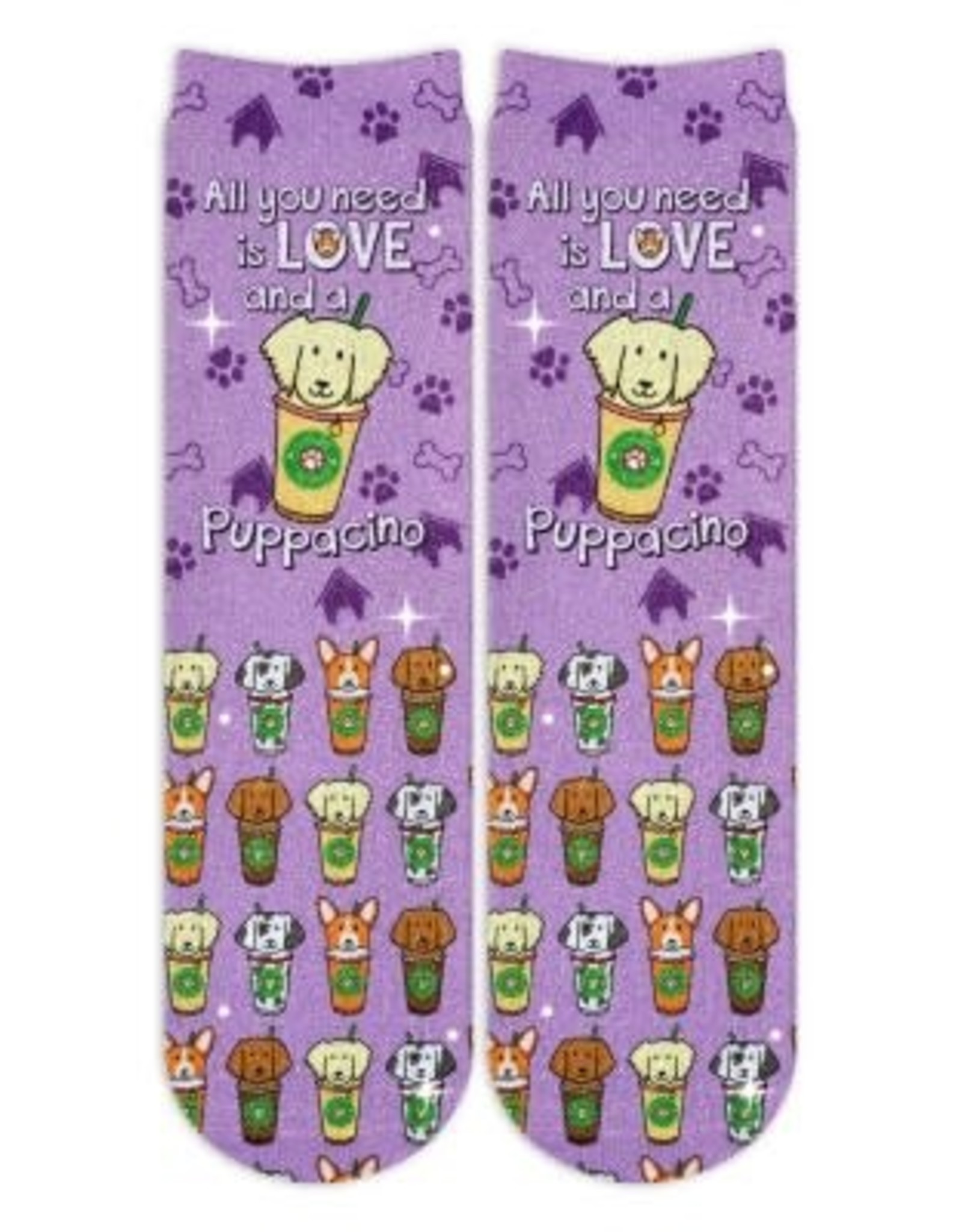 Sublime Designs Puppacino Shimmer Socks(PCO) Shoe Size 11-4