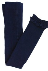 RuffleButts Navy Footless Ruffle Tights