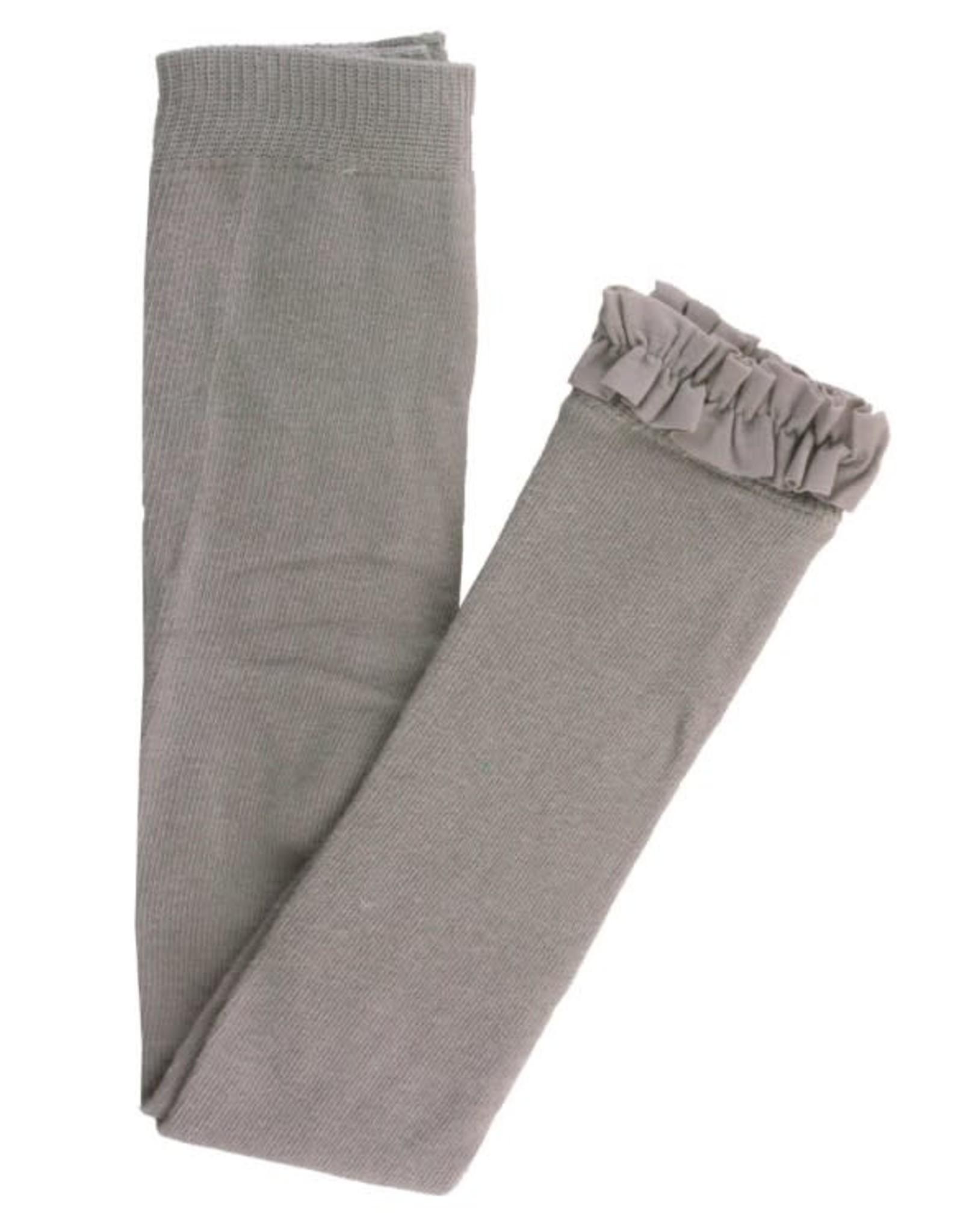 RuffleButts Gray Footless Ruffle Tights