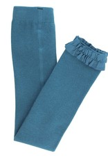 RuffleButts Ethereal Blue Footless Ruffle Tights