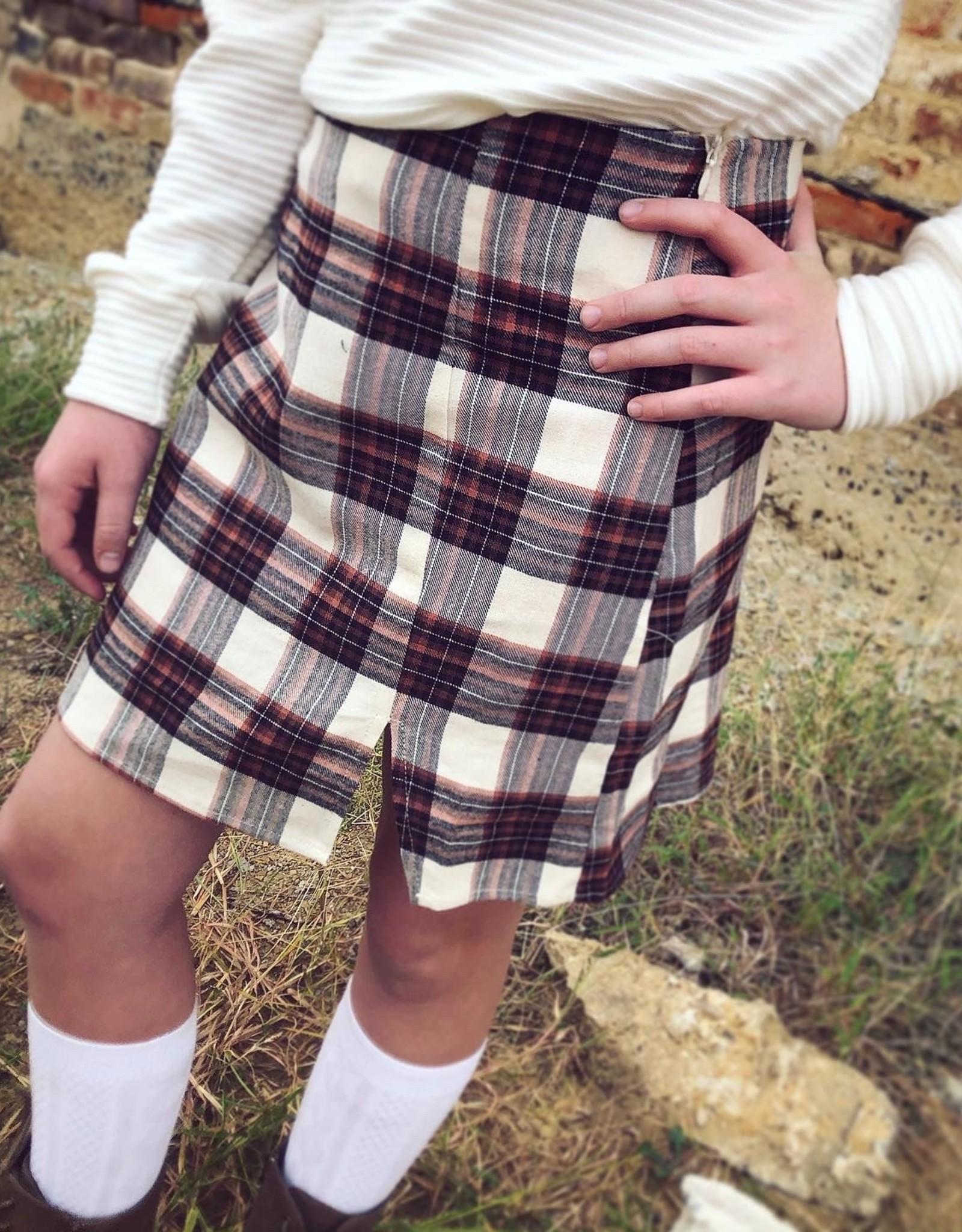 Sadie  & Sage Plaid Mini Skirt