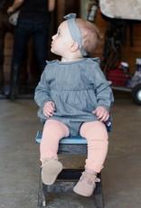 RuffleButts Ballet Pink Footless Tights