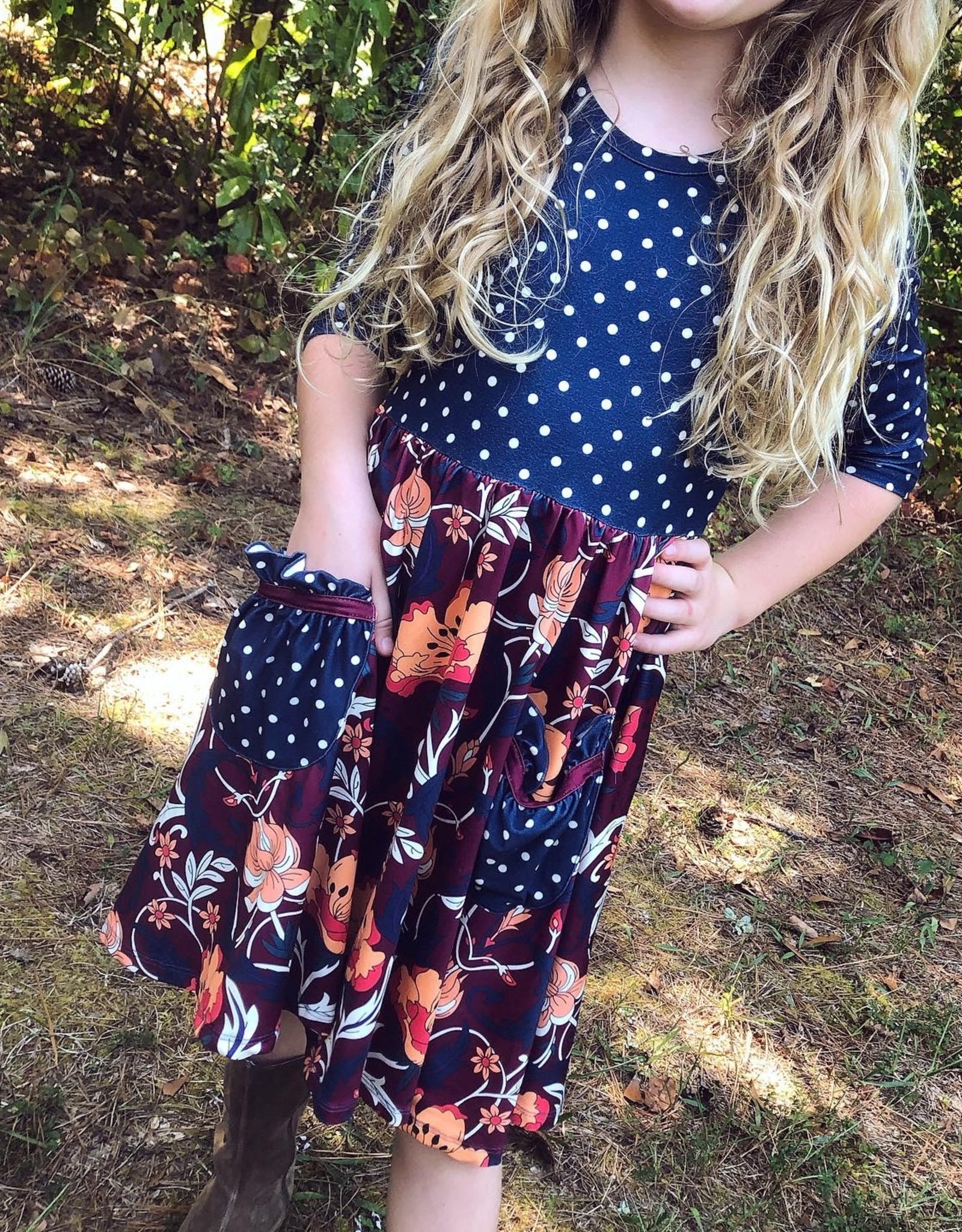 Charlies Project Burgundy Paisley Hugs Collection Dress
