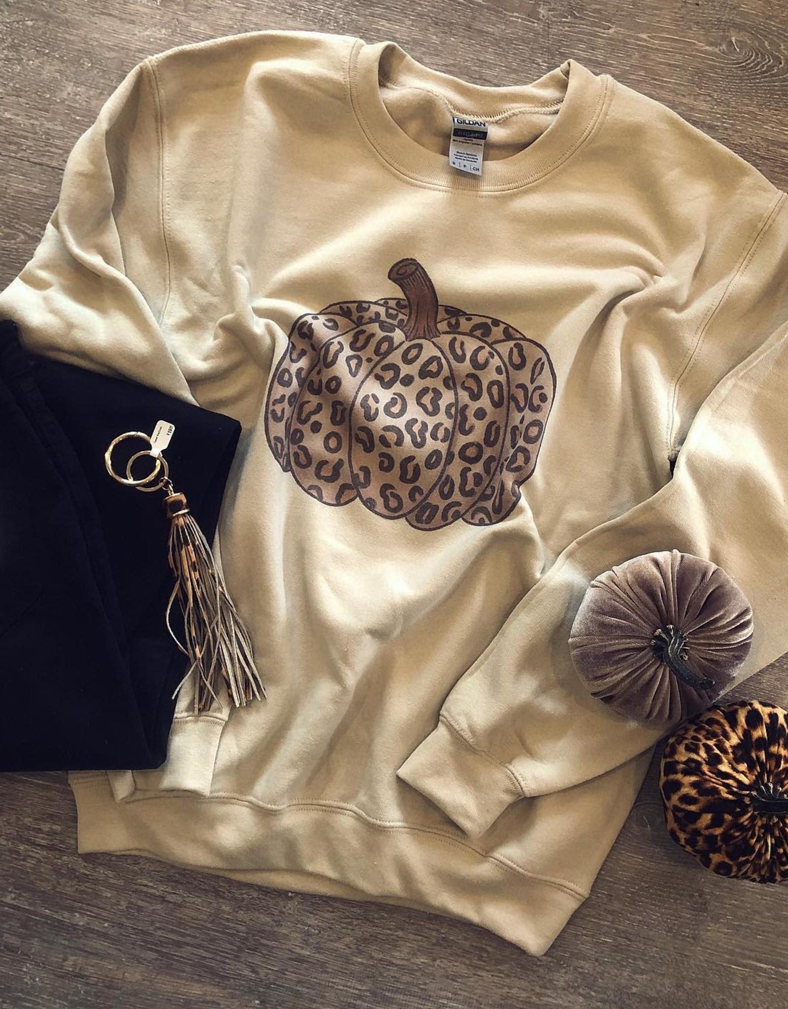Leopard Pumpkin Sweatshirt