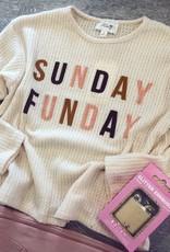 Sadie  & Sage Sunday Funday Graphic Tee