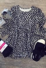 Sweet Bamboo Twirly Girl Dress in Leopard
