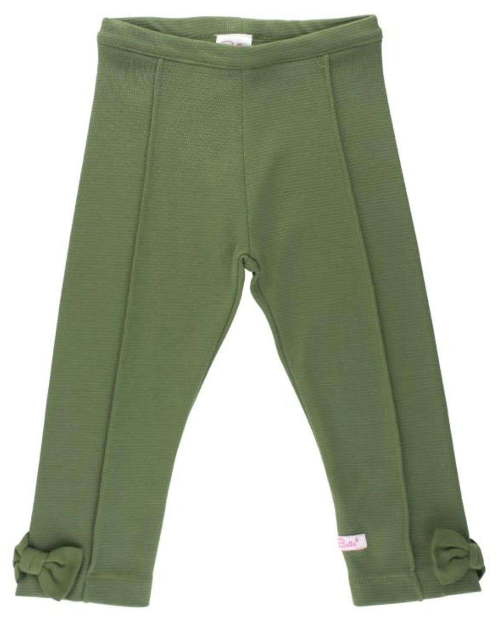 RuffleButts Miller Plaid Peplum Top W/Moss Ponte Pants