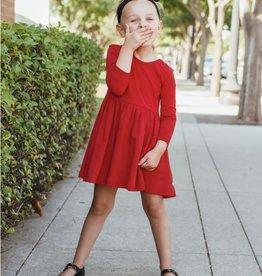 RuffleButts Red Twirl Dress
