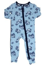 Sweet Bamboo Jeeps - Piped Zipper Romper