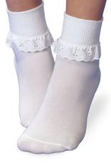 Jefferies Socks Eyelet Lace Ruffle Socks