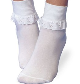 Jefferies Socks Eyelet Lace Ruffle Socks