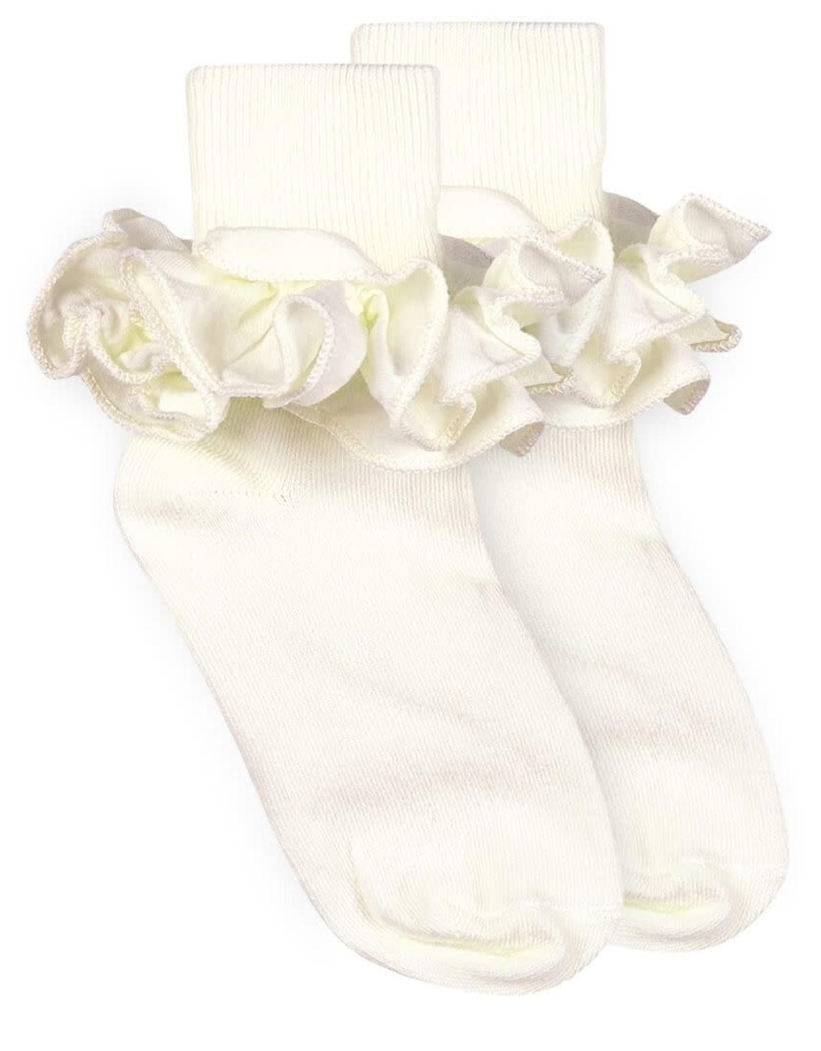 Jefferies Socks Ivory Ruffle Socks