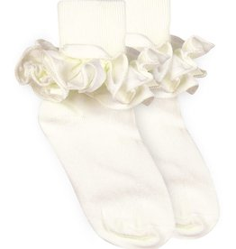 Jefferies Socks Ivory Ruffle Socks