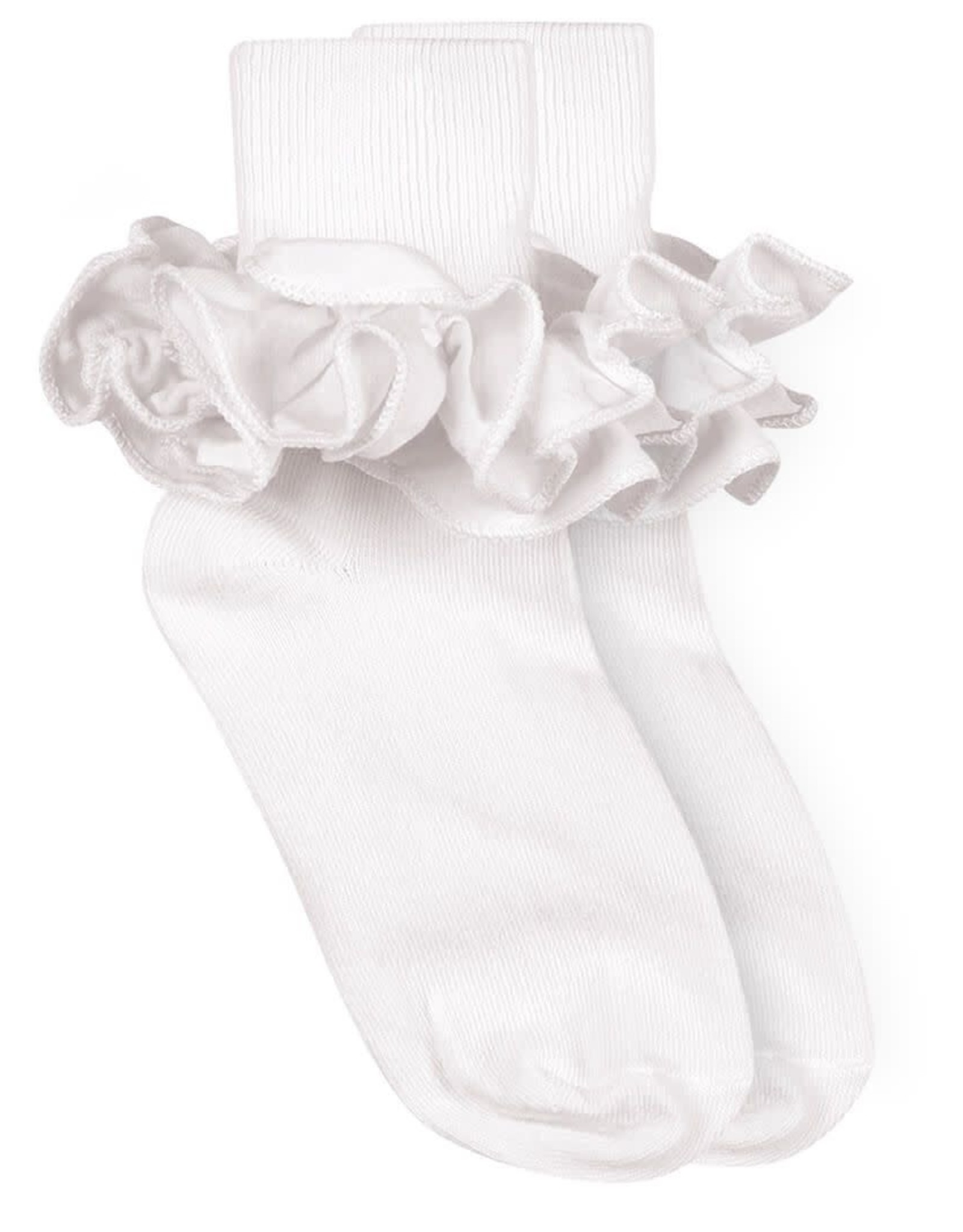 Jefferies Socks White Ruffle Socks