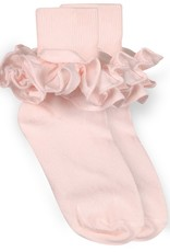 Jefferies Socks Pink Ruffle Socks