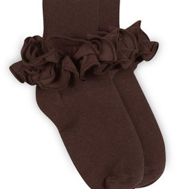 Jefferies Socks Brown Ruffle Socks