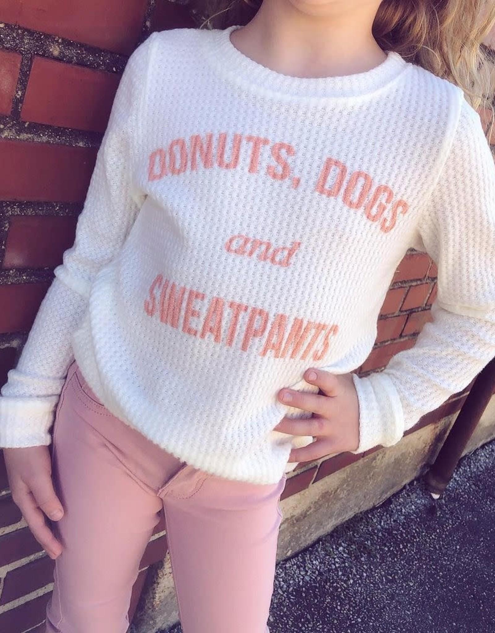 Sadie  & Sage Donut, Dogs, Sweatpants Tee