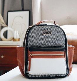 Itzy Ritzy Coffee & Cream Itzy Mini Diaper Bag Backpack