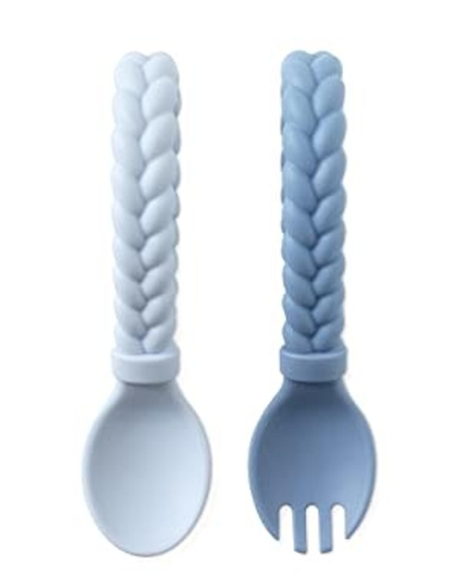 Itzy Ritzy Sweetie  Fork + Spoon Set, Blue