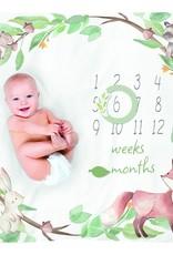 Itzy Ritzy Cutie Capture Woodland Milestone Blanket